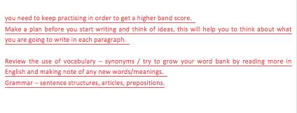 IELTS task 2 essay with corrections