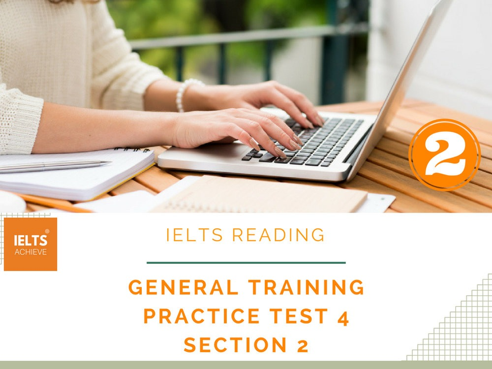 IELTS Reading general training practice test