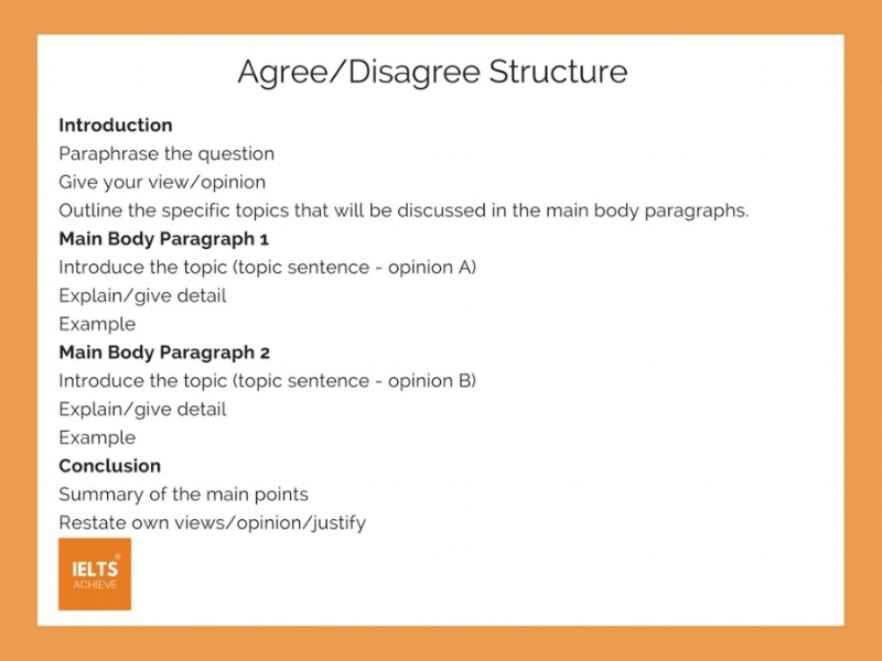 IELTS agree or disagree essay structure