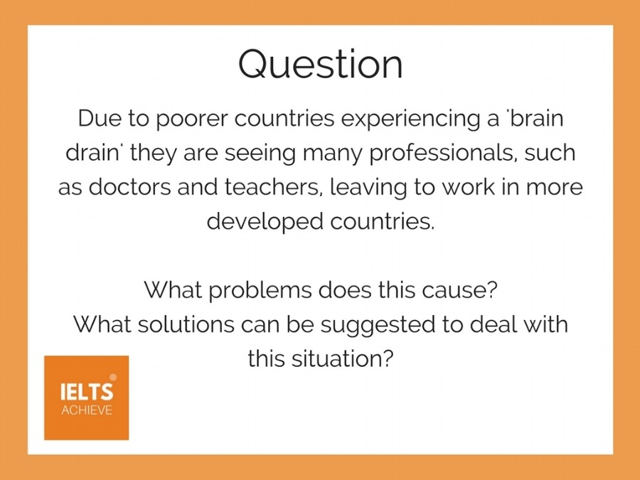 IELTS problem solution essay question and high scoring sample essay