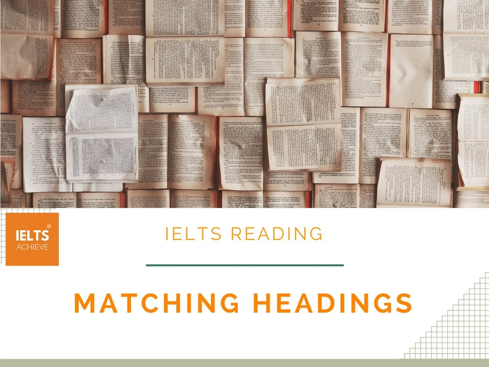 IELTS reading matching headings