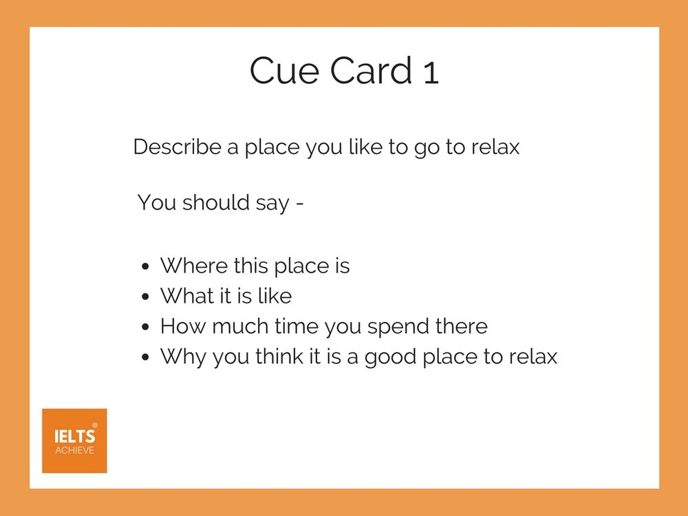 IELTS speaking part 2 cue card example