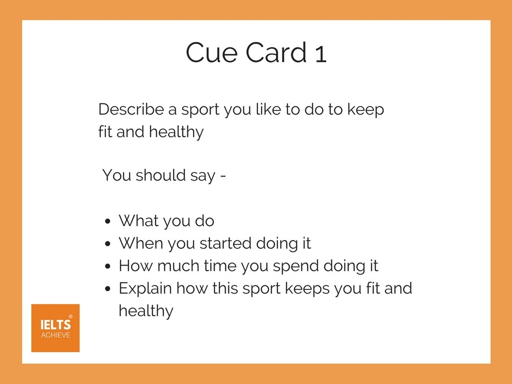 IELTS speaking sports cue card