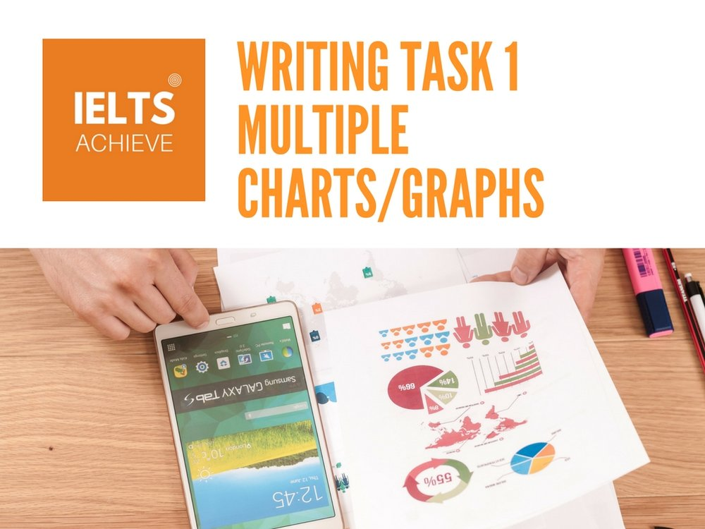 IELTS writing task 1 academic multiple charts and graphs