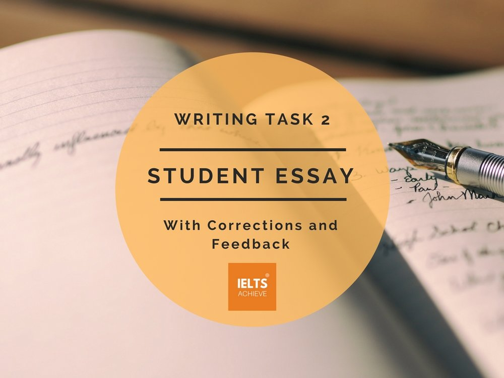 IELTS writing task 2 band score 9 student essay