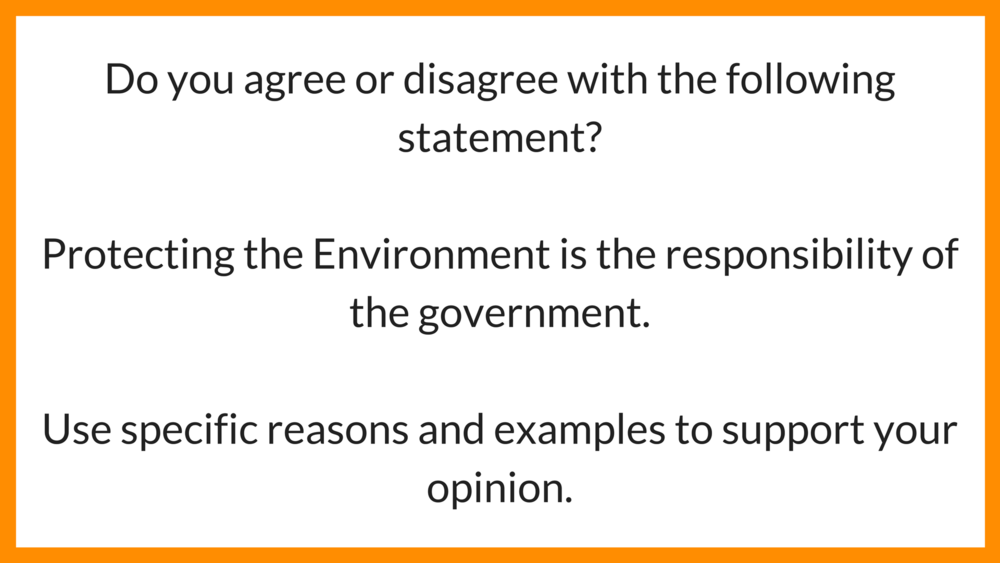 IELTS Writing Task 2 question   Agree/Disagree Essay -  Environment