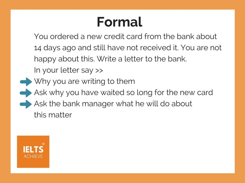 Formal Letter Example- Credit card