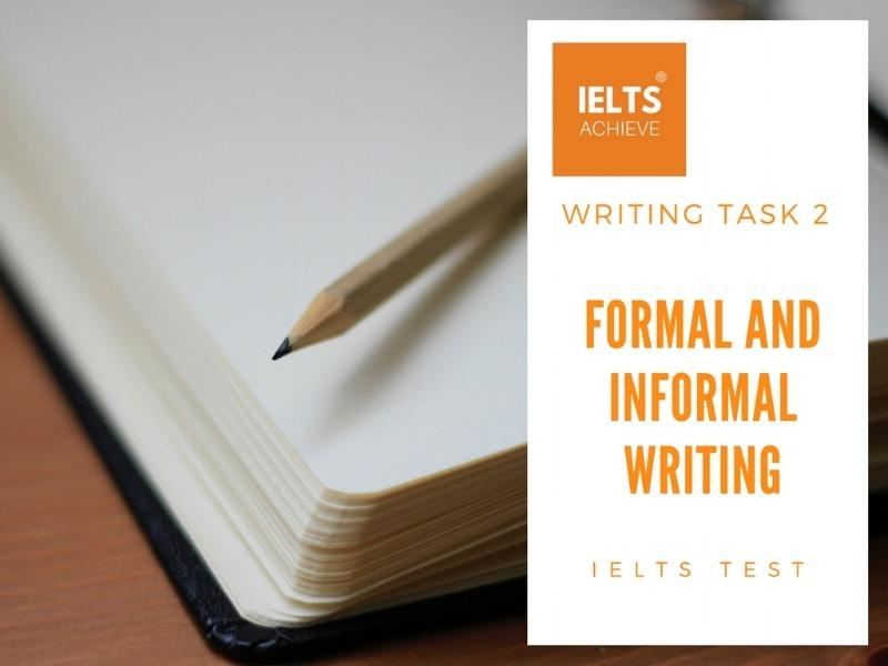Formal And Informal Writing