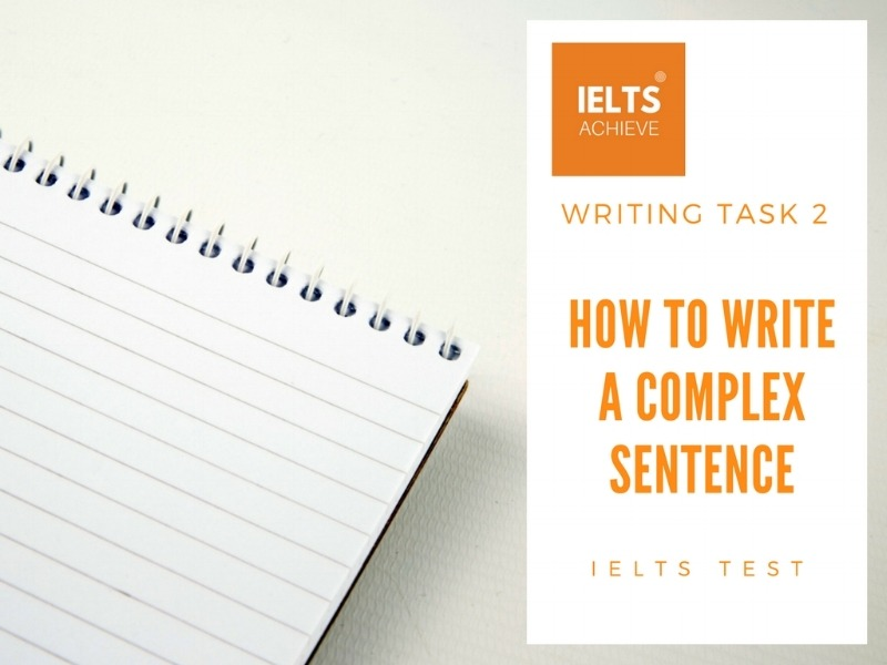 how to write a complex sentence