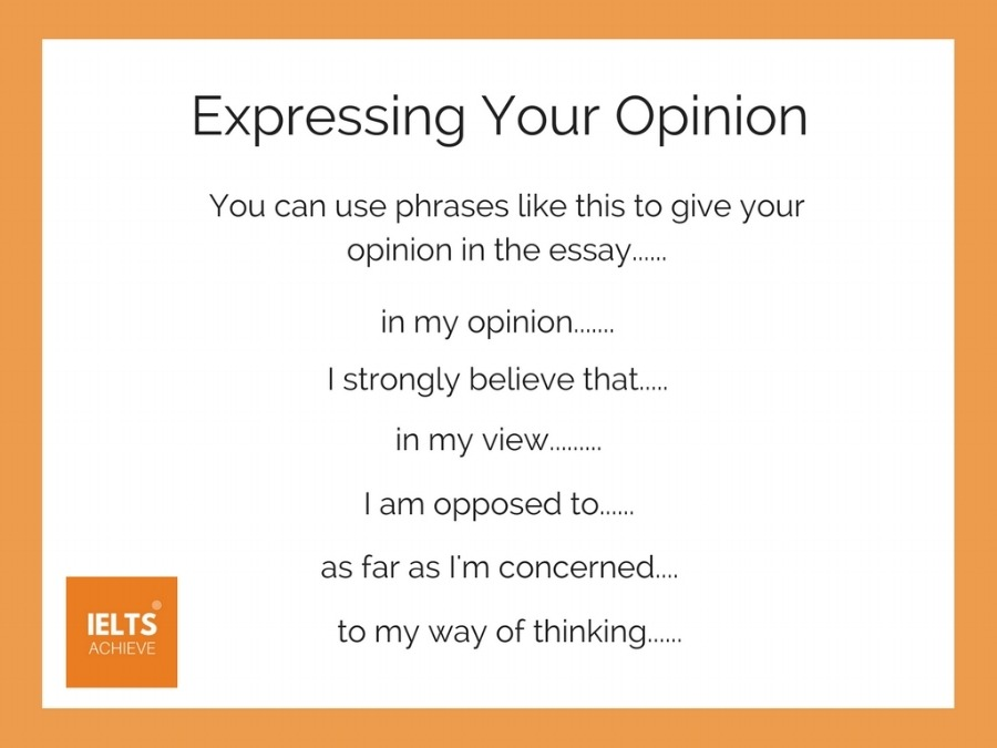 Expressing your opinion