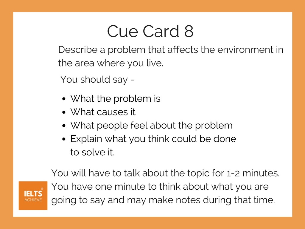 IELTS speaking part 2 cue card example with answer