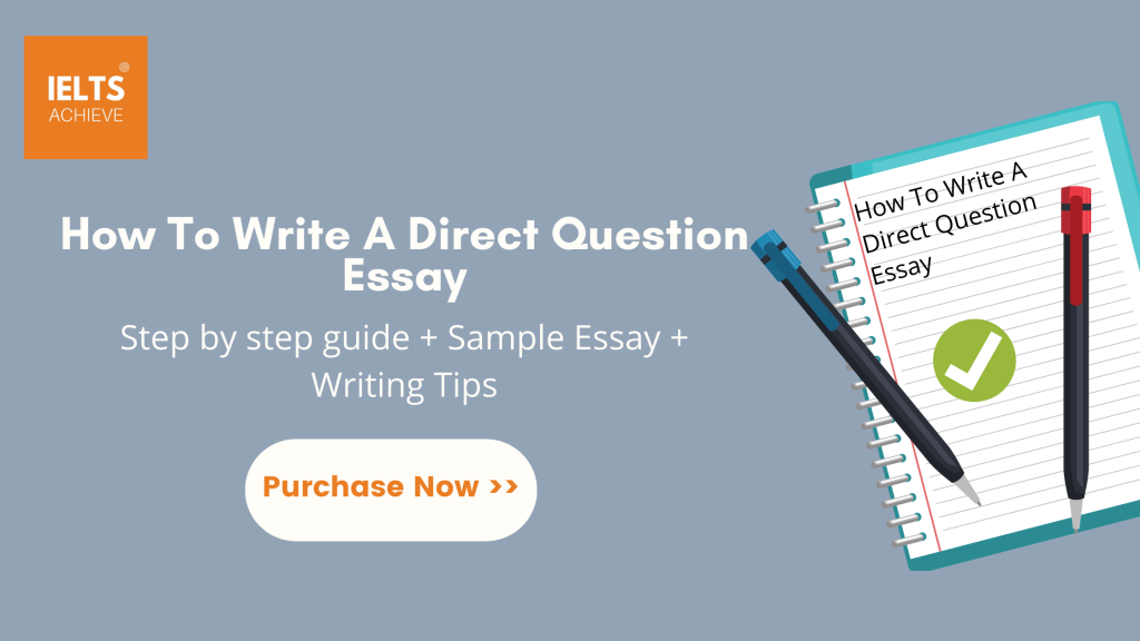 How to write a direct question Essay